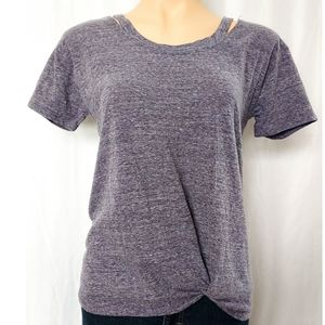 NWOT Style & Co Short Sleeve Front Knot Cutout Tee